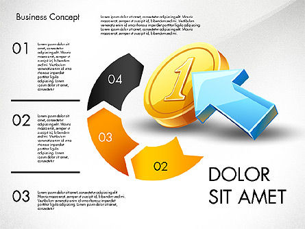 Financial Process Stages and Options, Slide 3, 03209, Process Diagrams — PoweredTemplate.com