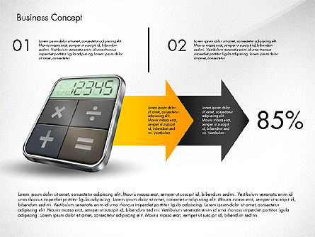 Financial Process Stages and Options, Slide 4, 03209, Process Diagrams — PoweredTemplate.com