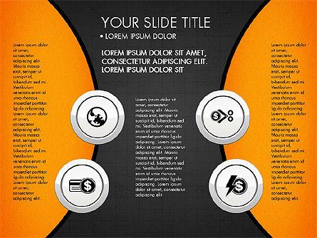 Circles and Financial Icons, Slide 13, 03214, Icons — PoweredTemplate.com