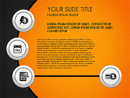 Circles and Financial Icons, Slide 14, 03214, Icons — PoweredTemplate.com