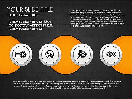 Circles and Financial Icons, Slide 16, 03214, Icons — PoweredTemplate.com