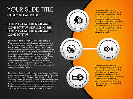 Circles and Financial Icons, Slide 9, 03214, Icons — PoweredTemplate.com
