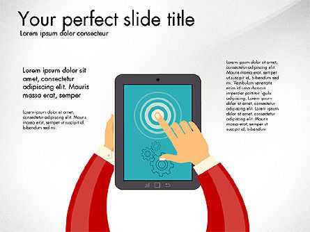 Presentation Templates: Presentation with Touchpad #03215