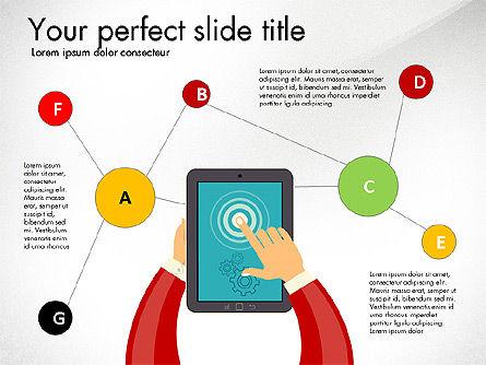 Presentation with Touchpad, Slide 2, 03215, Presentation Templates — PoweredTemplate.com
