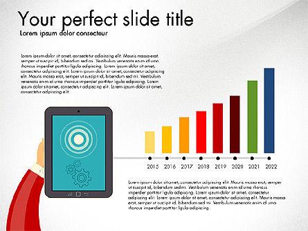 Presentation with Touchpad, Slide 4, 03215, Presentation Templates — PoweredTemplate.com