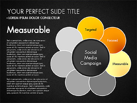 Social Media Campaign Stages, Slide 12, 03220, Stage Diagrams — PoweredTemplate.com