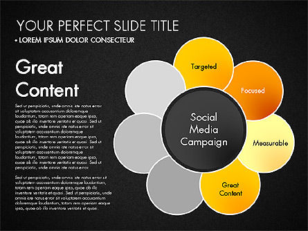 Social Media Campaign Stages, Slide 13, 03220, Stage Diagrams — PoweredTemplate.com