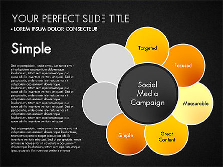 Social Media Campaign Stages, Slide 14, 03220, Stage Diagrams — PoweredTemplate.com