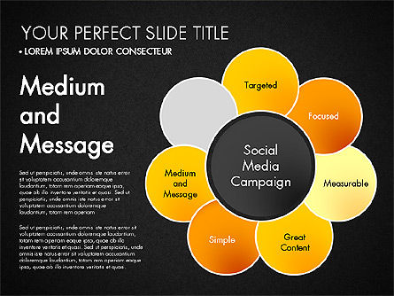 Social Media Campaign Stages, Slide 15, 03220, Stage Diagrams — PoweredTemplate.com