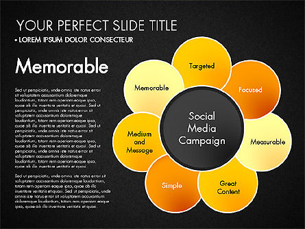 Social Media Campaign Stages, Slide 16, 03220, Stage Diagrams — PoweredTemplate.com