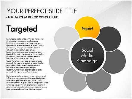 Social Media Campaign Stages, Slide 2, 03220, Stage Diagrams — PoweredTemplate.com
