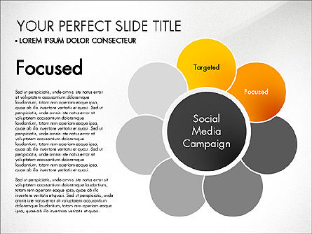 Social Media Campaign Stages, Slide 3, 03220, Stage Diagrams — PoweredTemplate.com