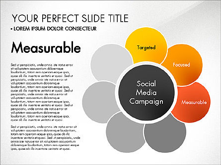 Social Media Campaign Stages, Slide 4, 03220, Stage Diagrams — PoweredTemplate.com