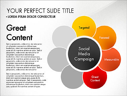 Social Media Campaign Stages, Slide 5, 03220, Stage Diagrams — PoweredTemplate.com
