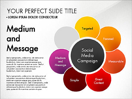 Social Media Campaign Stages, Slide 7, 03220, Stage Diagrams — PoweredTemplate.com