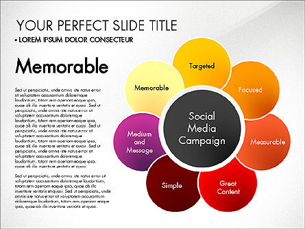 Social Media Campaign Stages, Slide 8, 03220, Stage Diagrams — PoweredTemplate.com