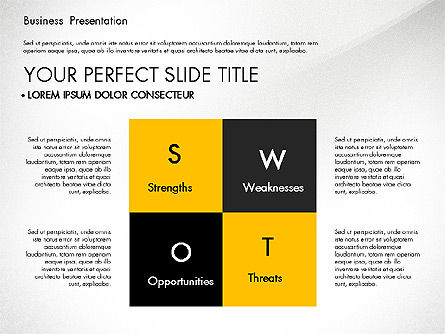 Yellow and Black Business Presentation Deck, Slide 2, 03221, Presentation Templates — PoweredTemplate.com