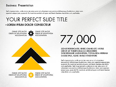 Yellow and Black Business Presentation Deck, Slide 4, 03221, Presentation Templates — PoweredTemplate.com