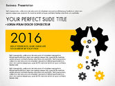 Presentation Templates: Yellow and Black Business Presentation Deck #03221