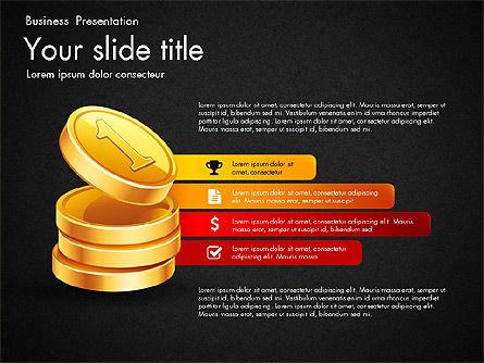 Financial Brief Infographics Deck, Slide 14, 03222, Infographics — PoweredTemplate.com