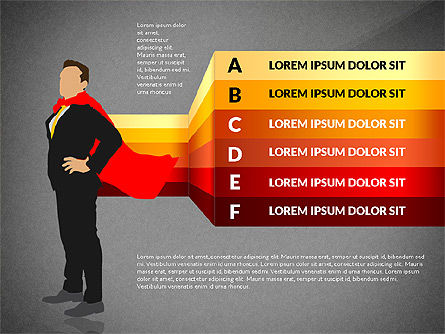 Options Diagram with Business Superman, Slide 12, 03224, Stage Diagrams — PoweredTemplate.com