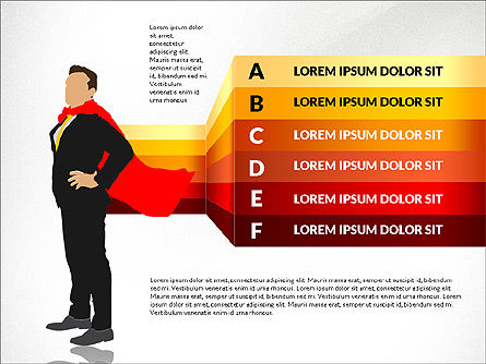 Options Diagram with Business Superman, Slide 4, 03224, Stage Diagrams — PoweredTemplate.com