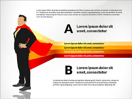 Options Diagram with Business Superman, Slide 6, 03224, Stage Diagrams — PoweredTemplate.com