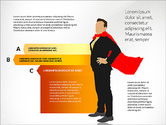 Stage Diagrams: Options Diagram with Business Superman #03224