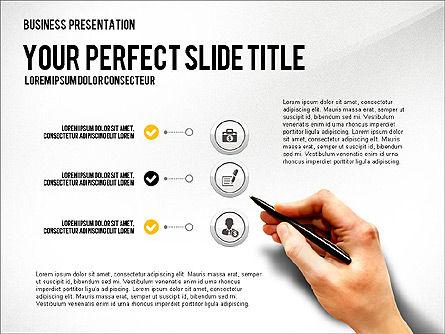 Presentation with Financial Icons, 03226, Presentation Templates — PoweredTemplate.com