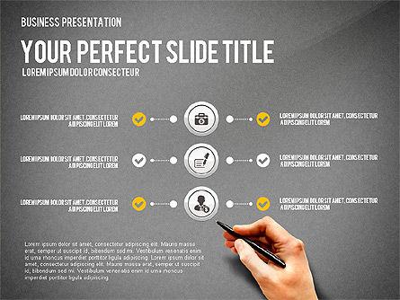 Presentation with Financial Icons, Slide 10, 03226, Presentation Templates — PoweredTemplate.com