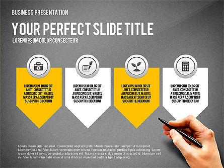 Presentation with Financial Icons, Slide 12, 03226, Presentation Templates — PoweredTemplate.com