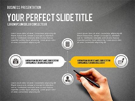 Presentation with Financial Icons, Slide 14, 03226, Presentation Templates — PoweredTemplate.com