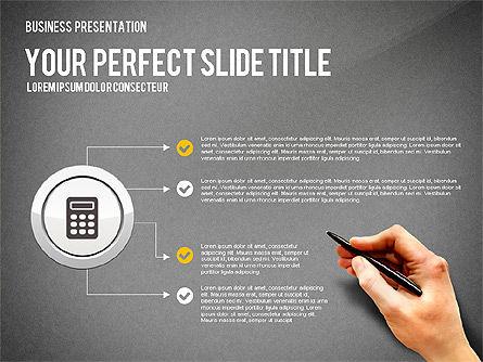 Presentation with Financial Icons, Slide 16, 03226, Presentation Templates — PoweredTemplate.com