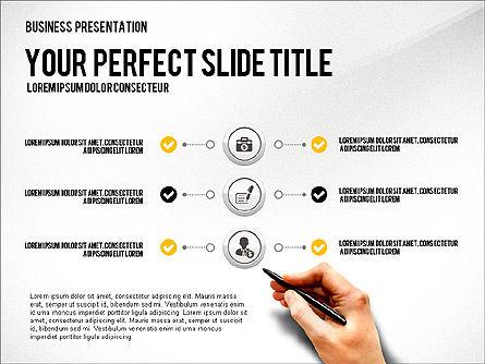 Presentation with Financial Icons, Slide 2, 03226, Presentation Templates — PoweredTemplate.com