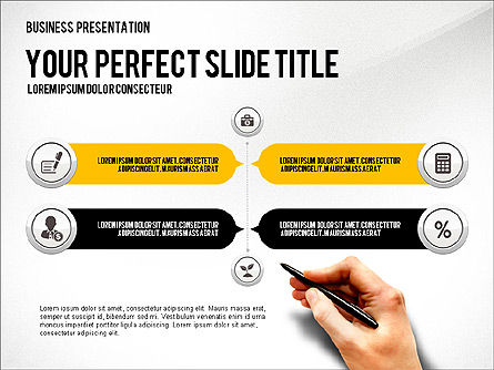 Presentation with Financial Icons, Slide 3, 03226, Presentation Templates — PoweredTemplate.com