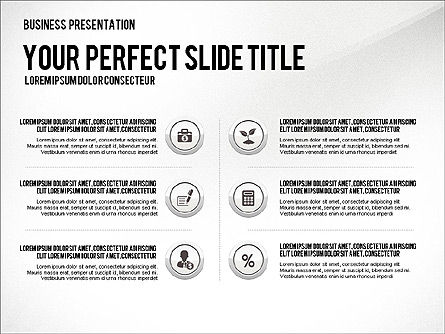 Presentation with Financial Icons, Slide 5, 03226, Presentation Templates — PoweredTemplate.com