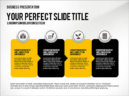 Presentation with Financial Icons, Slide 7, 03226, Presentation Templates — PoweredTemplate.com