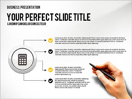 Presentation with Financial Icons, Slide 8, 03226, Presentation Templates — PoweredTemplate.com
