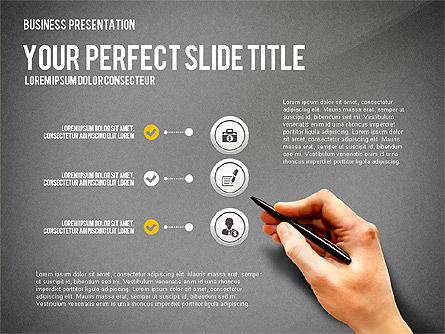 Presentation with Financial Icons, Slide 9, 03226, Presentation Templates — PoweredTemplate.com
