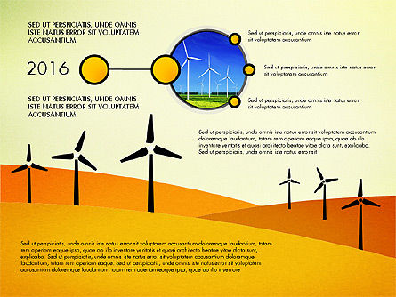 Wind Energy Presentation Template, 03227, Presentation Templates — PoweredTemplate.com