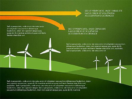 Wind Energy Presentation Template, Slide 12, 03227, Presentation Templates — PoweredTemplate.com
