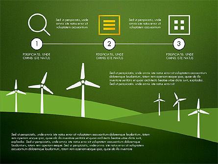 Wind Energy Presentation Template, Slide 13, 03227, Presentation Templates — PoweredTemplate.com