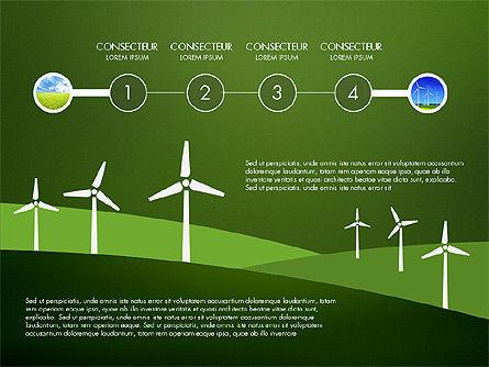 Wind Energy Presentation Template, Slide 14, 03227, Presentation Templates — PoweredTemplate.com