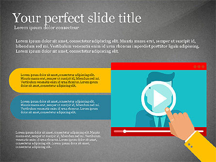 Online Training Presentation Template, Slide 15, 03231, Education Charts and Diagrams — PoweredTemplate.com