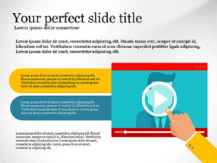 Online Training Presentation Template, Slide 7, 03231, Education Charts and Diagrams — PoweredTemplate.com