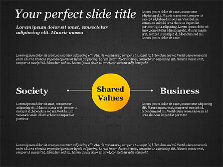 Shared Value Diagram, Slide 11, 03232, Business Models — PoweredTemplate.com