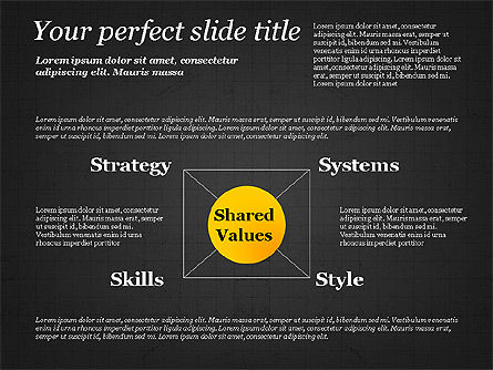 Shared Value Diagram, Slide 15, 03232, Business Models — PoweredTemplate.com