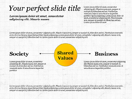 Shared Value Diagram, Slide 3, 03232, Business Models — PoweredTemplate.com