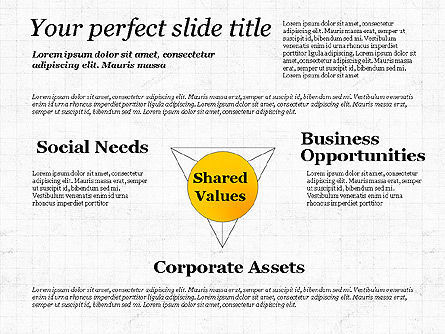 Shared Value Diagram, Slide 5, 03232, Business Models — PoweredTemplate.com