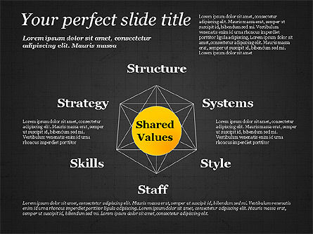 Shared Value Diagram, Slide 9, 03232, Business Models — PoweredTemplate.com
